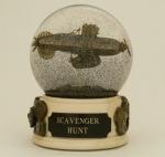 Scavenger Airship snow globe