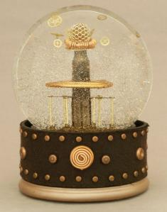 Tesla Coil model in snowglobe