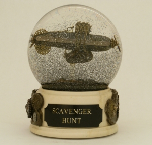 Scavenger Hunt snow globe