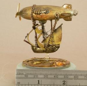 Voyager Airship insert sculpture