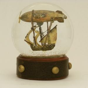 Voyager Airship Snow Globe