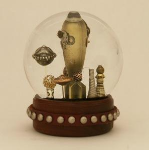 The Bomb snow globe