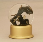 Escher football snow globe