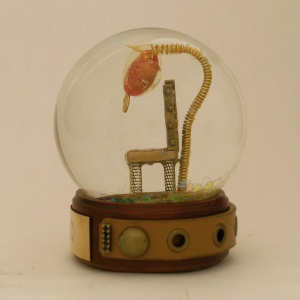 Missed - Empty Chair Snow Globe, Camryn Forrest Designs, 2012