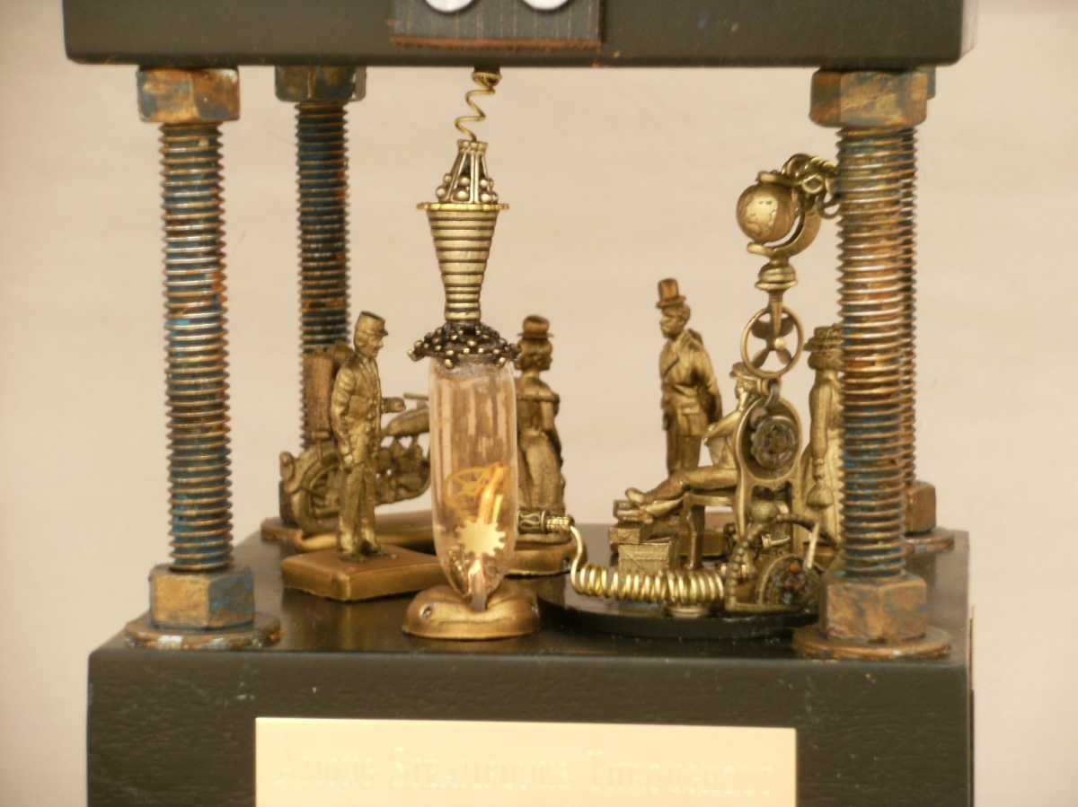 Detail Sacramento Steampunk Snow Globe, Camryn Forrest Designs 2012 (Collection of Doug Hack)