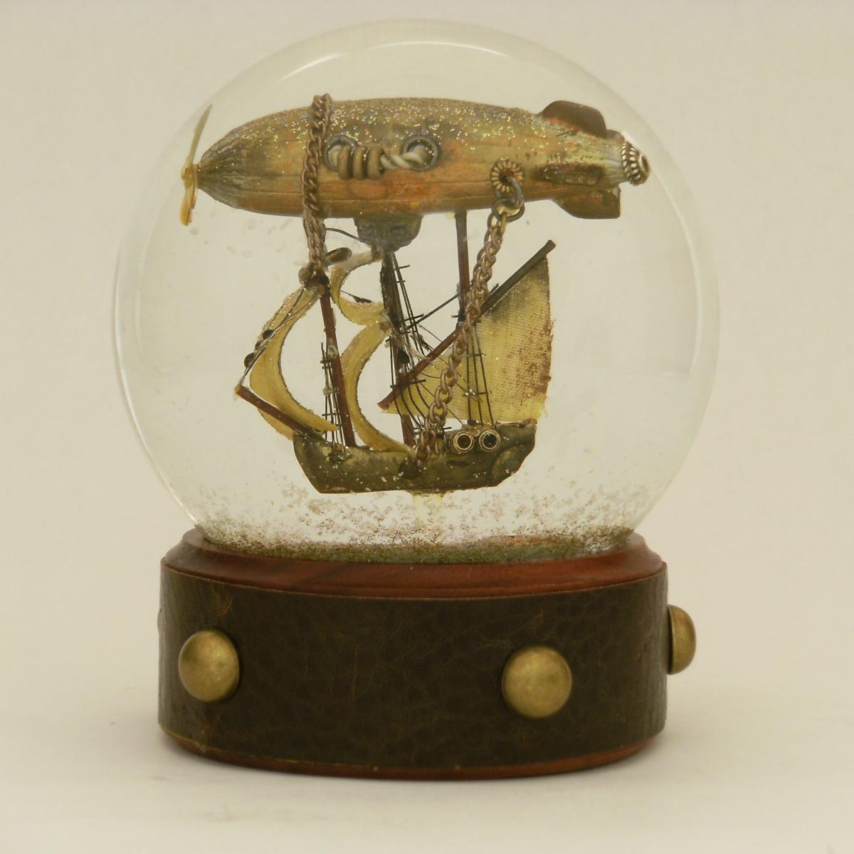 Airship Voyager Snow Globe, Camryn Forrest Designs 2012