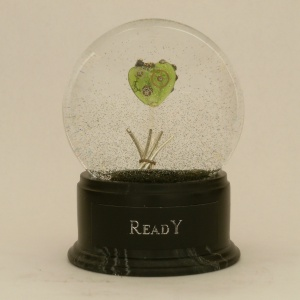 READY - one of a kind snow globe, Camryn Forrest Designs, 2012