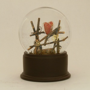 Survivor - one of a kind snow globe - Camryn Forrest Designs 2012