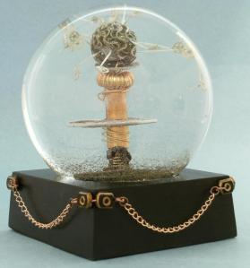 Tesla Chained snow globe