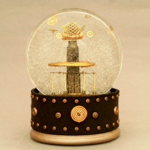 Tesla Copper Coil snow globe