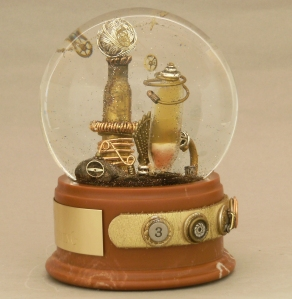 Tesla Thing snow globe