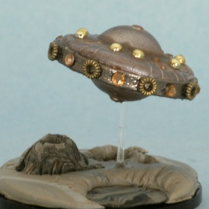 flying saucer snow globe sculpture, Camryn Forrest Designs 2013