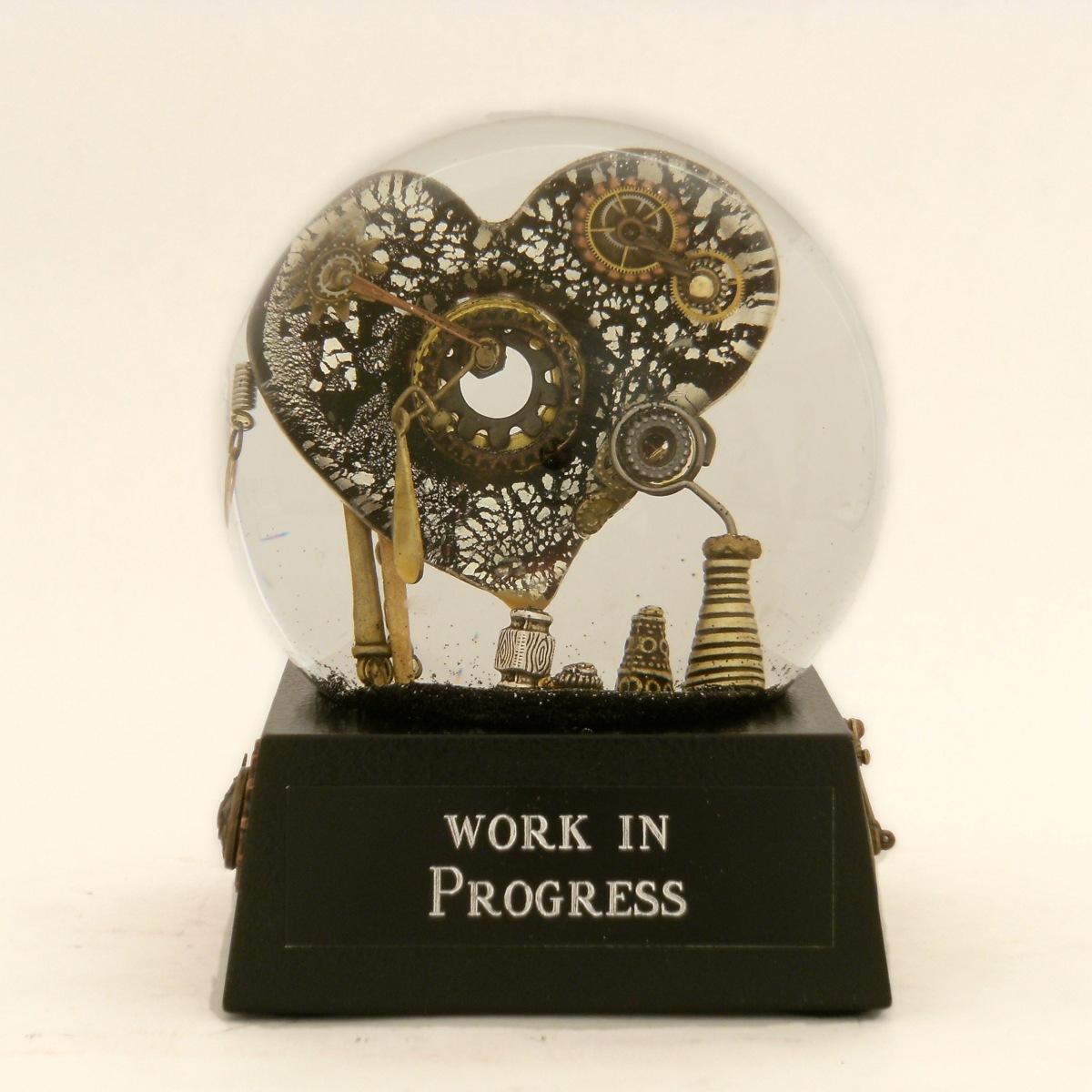Work in Progress Heart snow globe