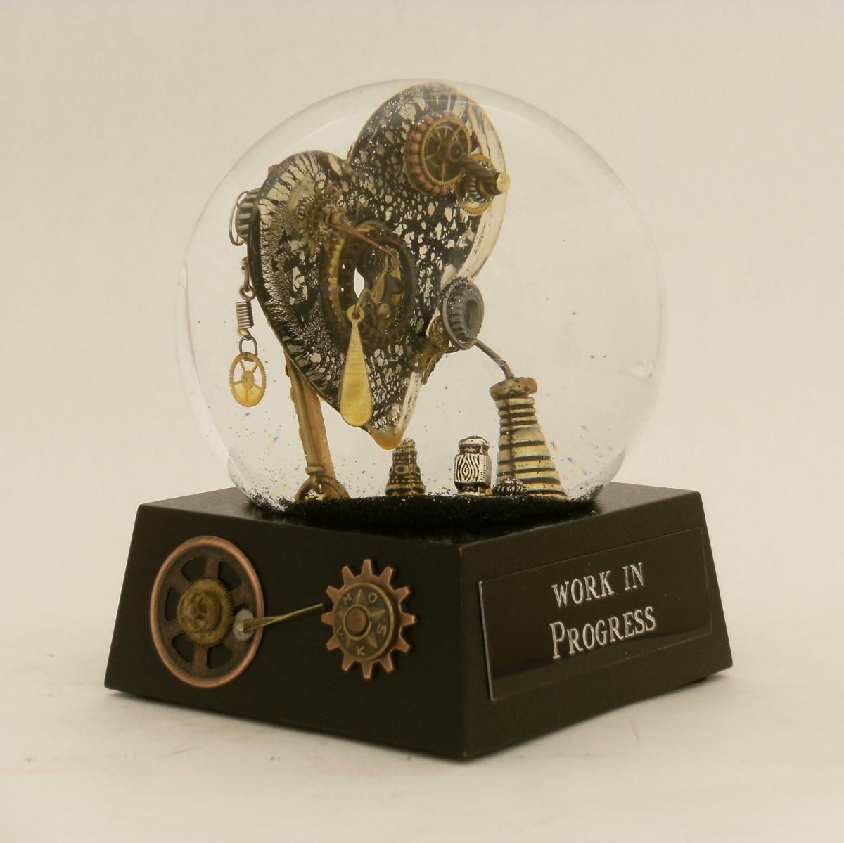 Work in Progress Heart snow globe, Camryn Forrest Designs 2013