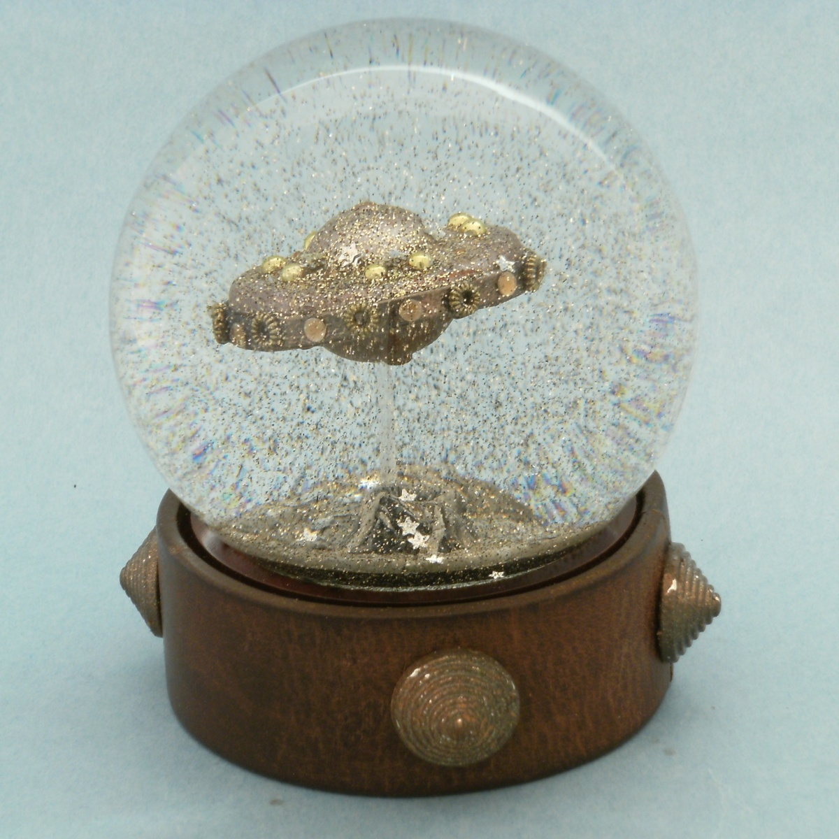 Flying Saucer snow globe by Camryn Forrest Designs