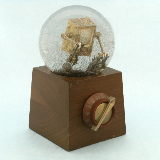 Re-Run Vintage Television snow globe, Camryn Forrest Designs 2013