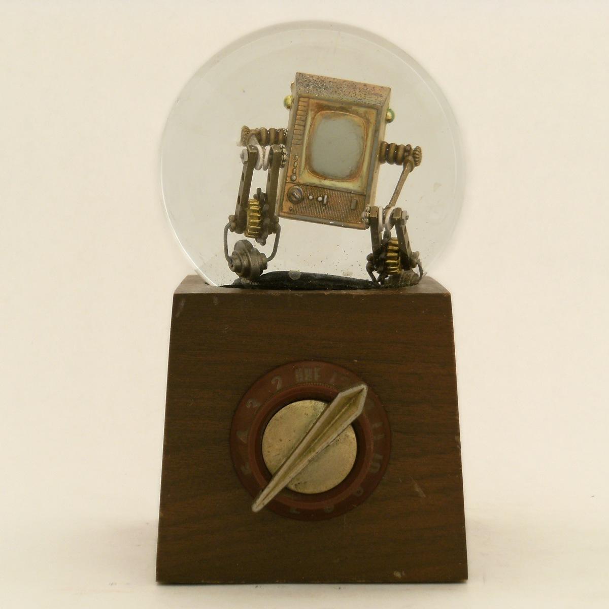 Re-Run Vintage Television snow globe, Camryn Forrest Designs 2013