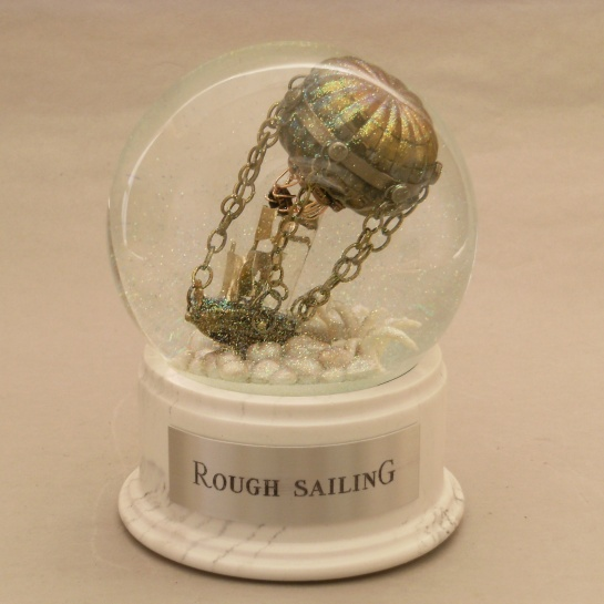 Rough Sailing snow globe by Camryn Forrest Designs