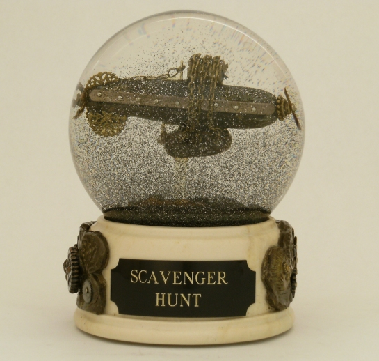 Scavenger Junk Airship snow globe by Camryn Forrest Designs