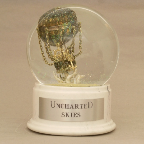 Uncharted Skies snow globe by Camryn Forrest Designs