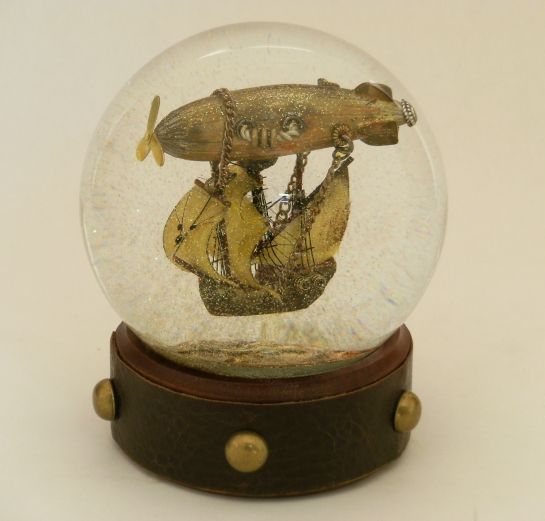 Airship Voyager snow globe by Camryn Forrest Designs