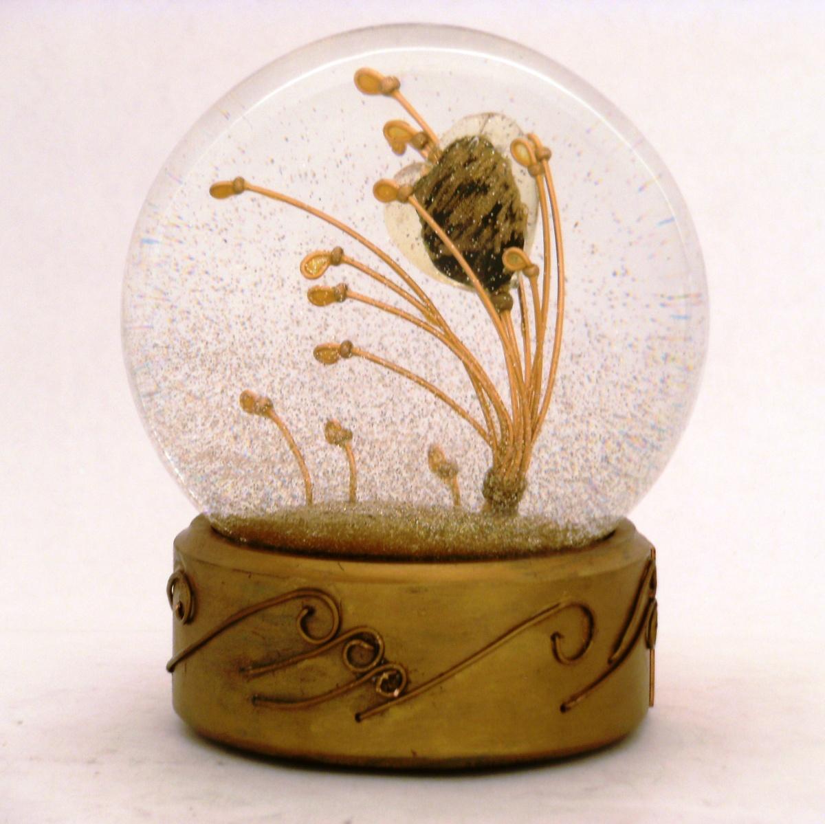 Attraction copper heart snow globe, Camryn Forrest Designs