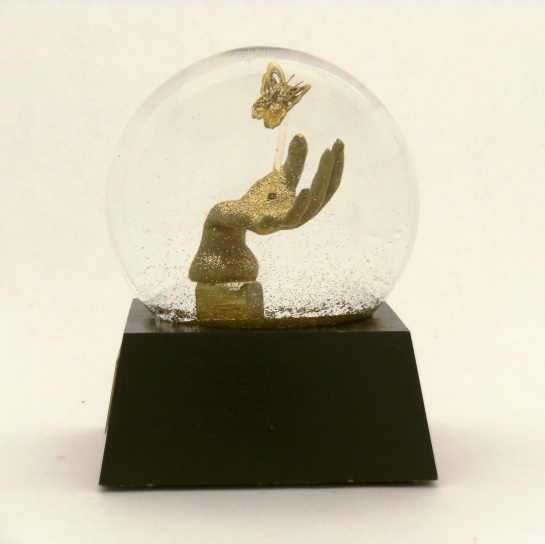 Believe - one of a kind snow globe, Camryn Forrest Designs 2013