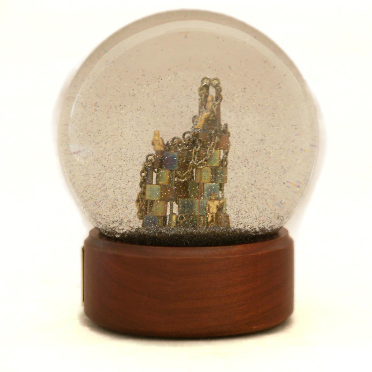 Waiting for Instructions custom snow globe, Camryn Forrest Designs 2013