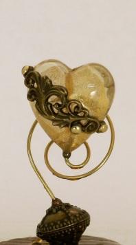 Detail, Heart of Gold sparkle snow globe, Camryn Forrest Designs 2013
