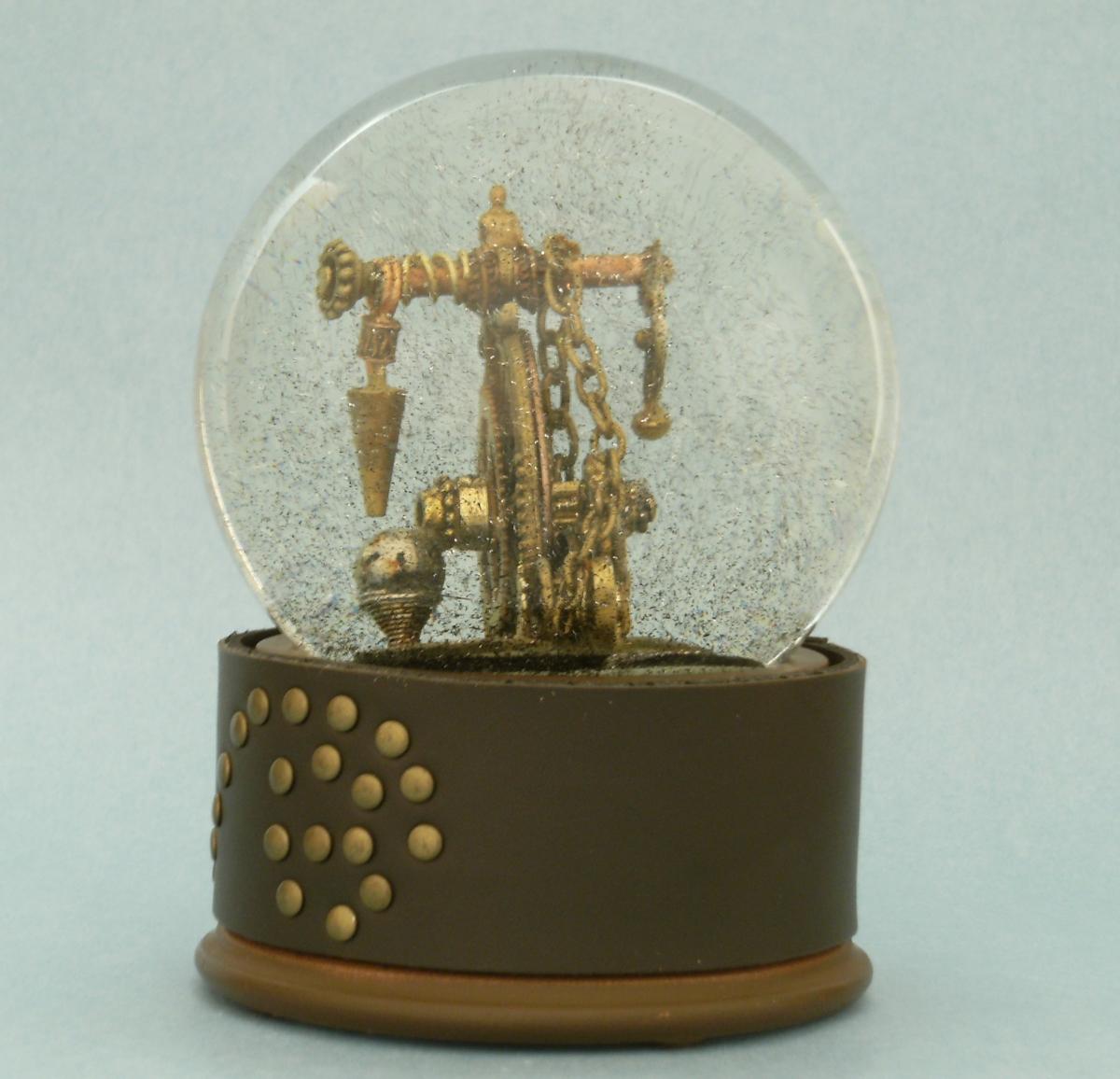 Steampunk My Ride penny farthing snow globe by Camryn Forrest Designs 2013