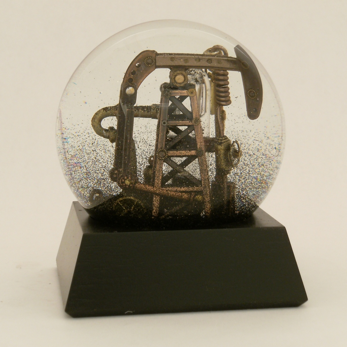 Oil Well that Ends Well, custom snow globe by Camryn Forrest Designs 2013