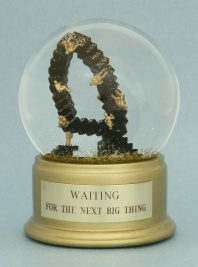 Waiting for the Next Big Thing snow globe, Camryn Forrest Designs (c) 2013