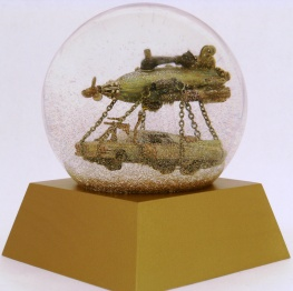 Airship Cadillac waterglobe, Camryn Forrest Designs 2013