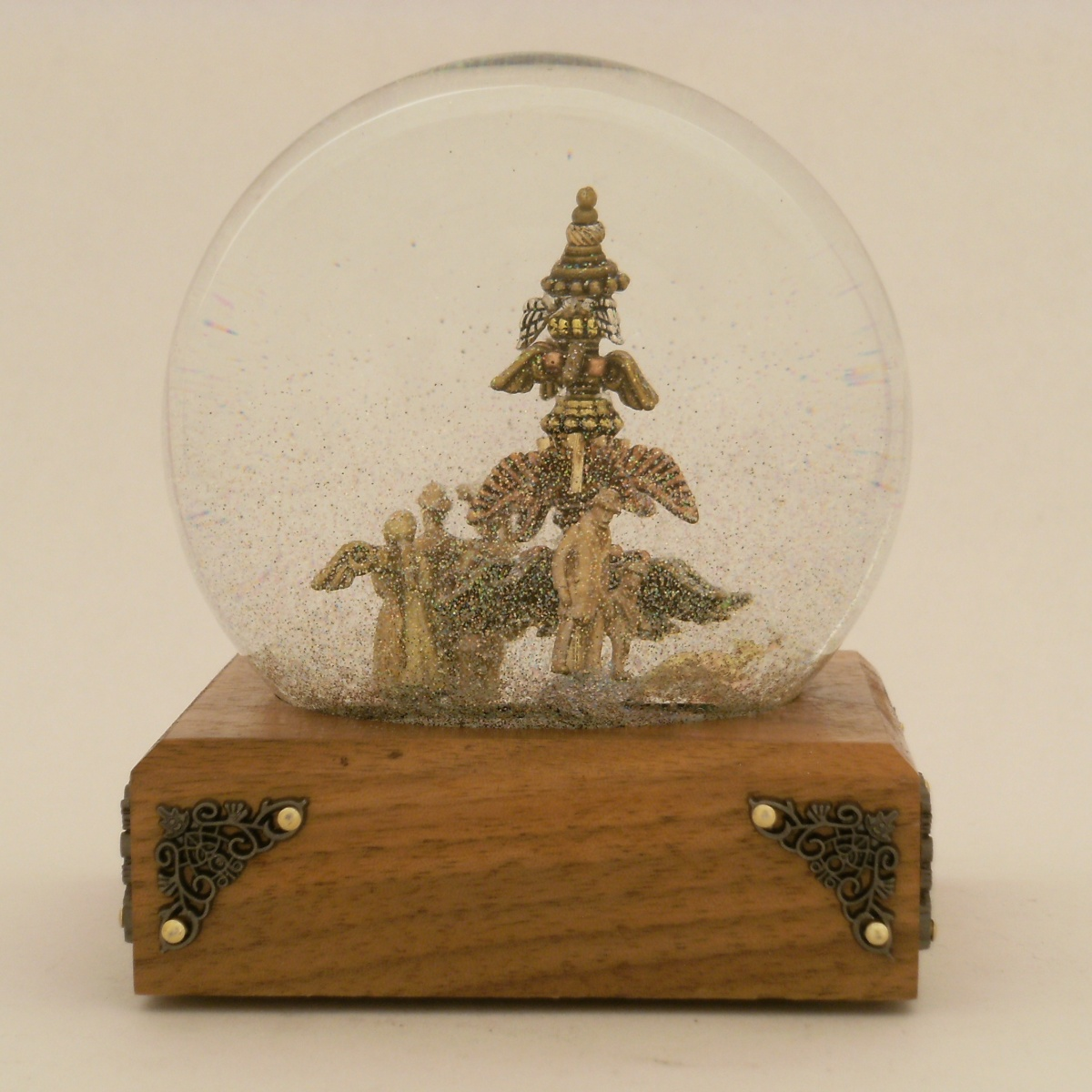 Glimpses of Angels snow globe Camryn Forrest Designs 2013