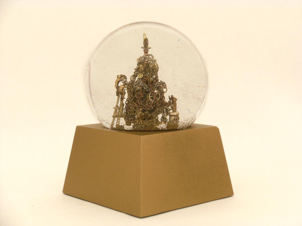 Making Christmas Time custom snow globe, Camryn Forrest Designs, 2013