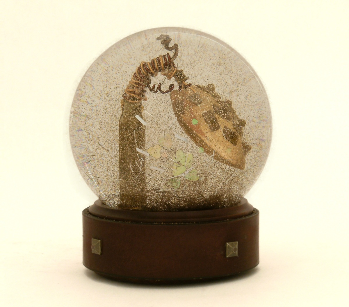 Armored Heart snow globe, Camryn Forrest Designs 2014