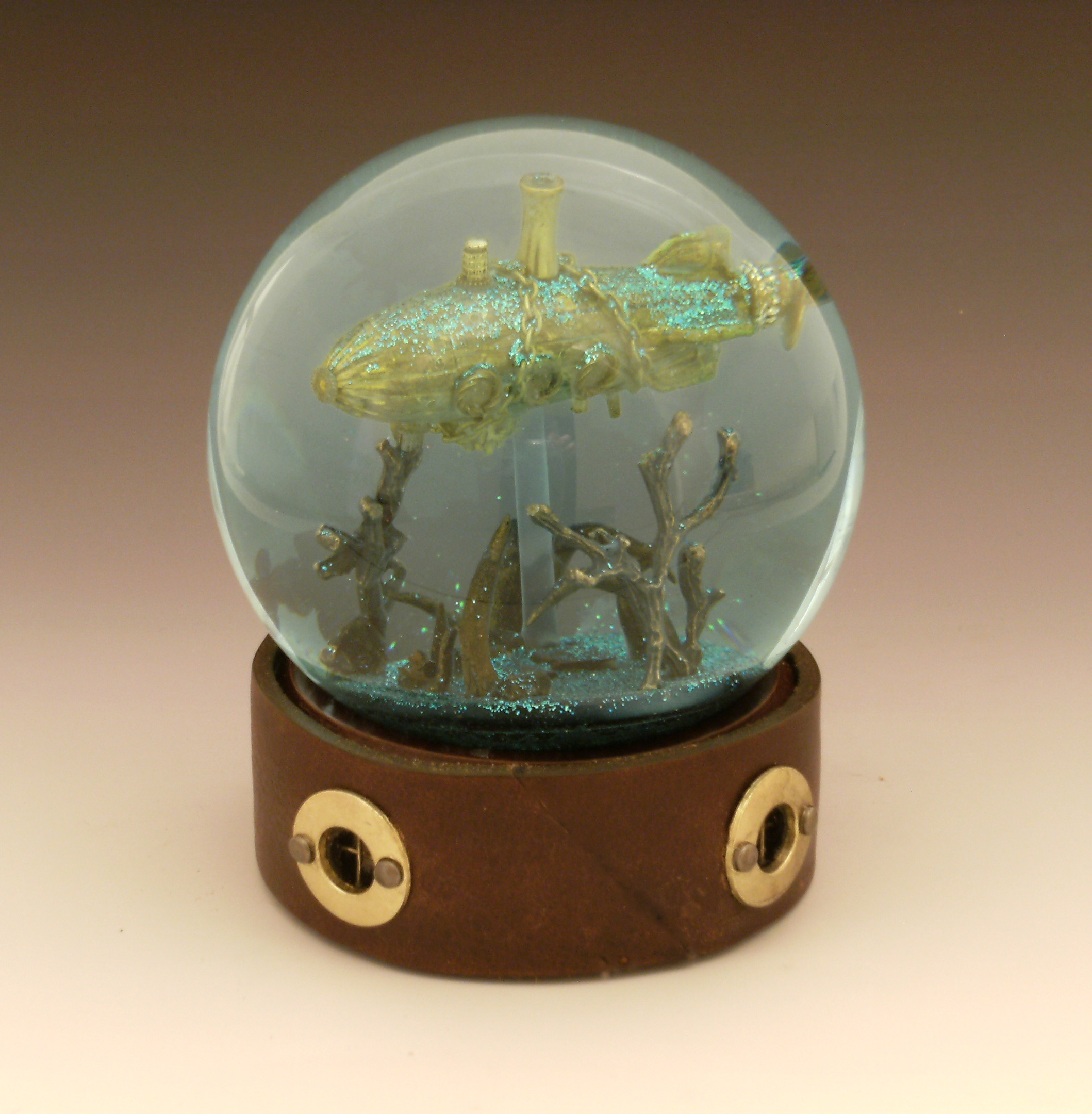 Below The Storm Submarine Snow Globe Camryn Forrest