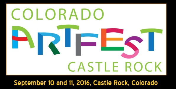 castle rock artfest logo with dates