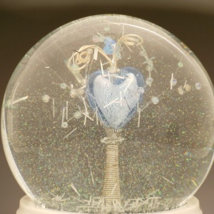 Detail Magic Happens custom snow globe, Camryn Forrest Designs, 2014