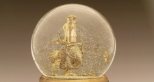 Partly Cloudy, Chance of Ants: one of a kind snow globe water globe, Camryn Forrest Designs, Denver Colorad
