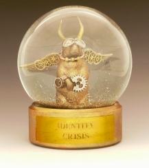 Identity Crisis Prairie Dog sparkle waterglobe, Camryn Forrest Designs 2014