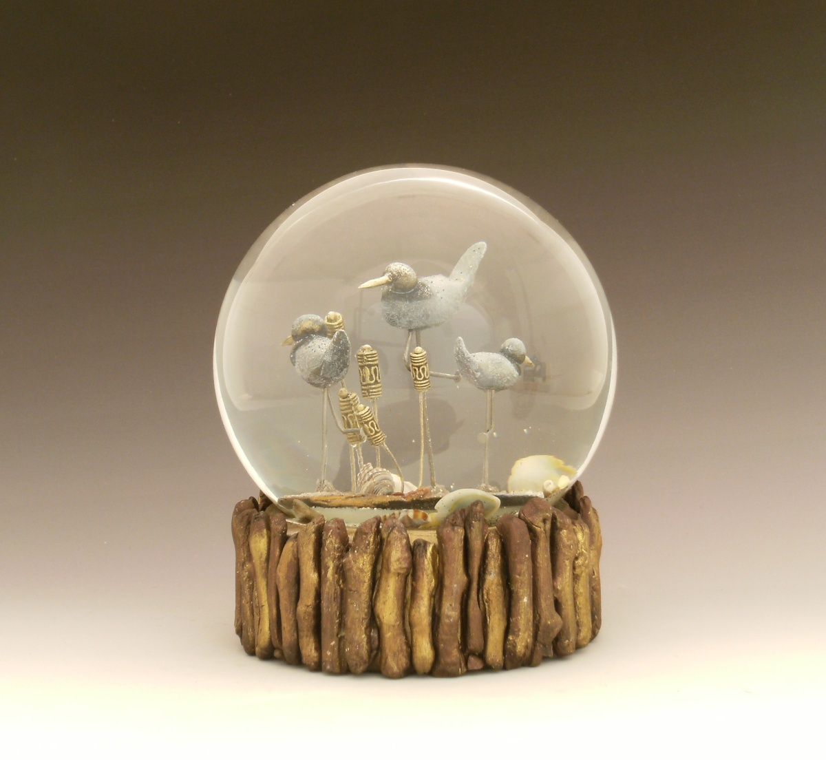 Shore Enough one of a kind waterglobe/snow globe, Camryn Forrest Designs 2014