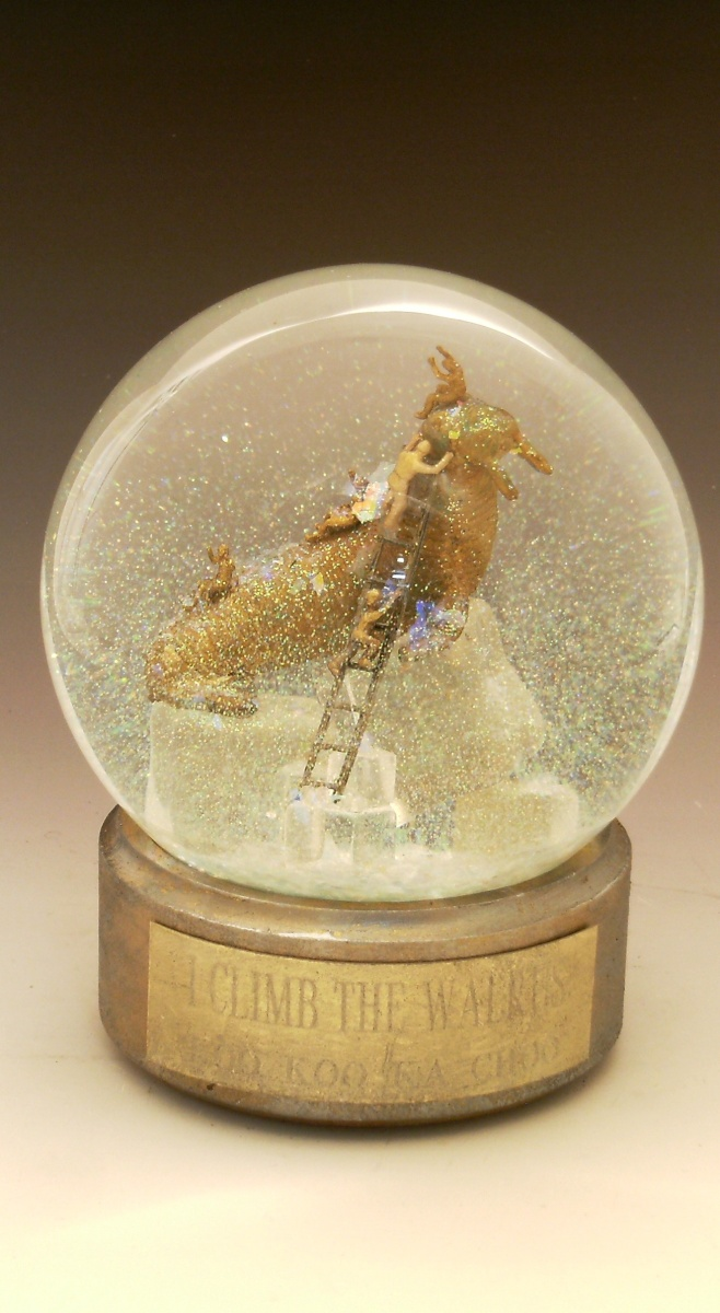 "Snow Globe ""I Climb the Walrus"" Camryn Forrest Designs, Denver Colorado"