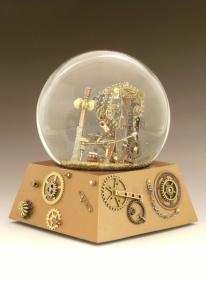 Gear Up snow globe by Camryn Forrest Designs, Denver, Colorado USA