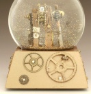 Gear Up snow globe by Camryn Forrest Designs, Denver, Colorado USA