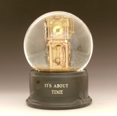 Its_About_Time snowglobe CamrynForrestDesigns, Denver, Colorado
