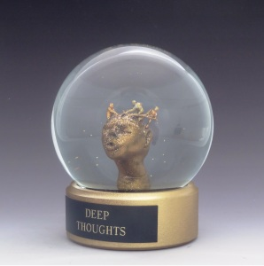Deep Thoughts snow globe, Camryn Forrest Designs, Denver, Colorado USA