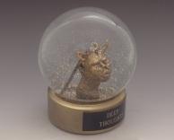 Deep Thoughts snow globe, Camryn Forrest Designs, Denver, Colorado USA