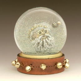 Twisted Santa holiday snow globe