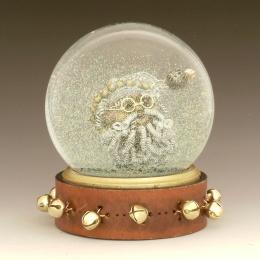 Twisted Santa holiday snowglobe